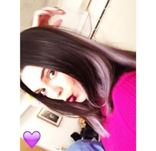 Kendall Jenner debuts purple hair on Snapchat, 26th July 2016