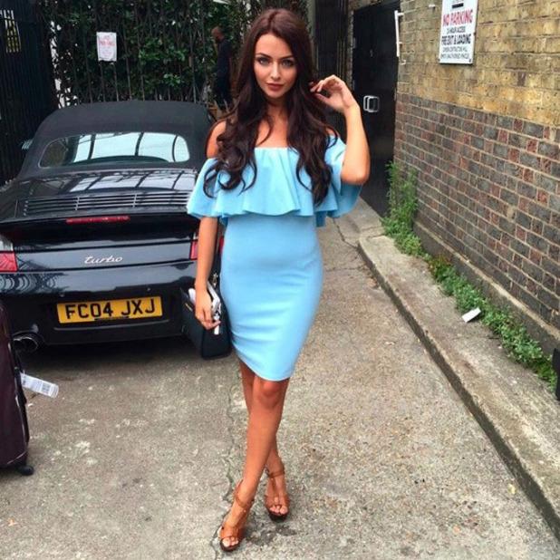 Love Island's Kady McDermott wears Miss Papp dress on press day in London, 28th July 2016