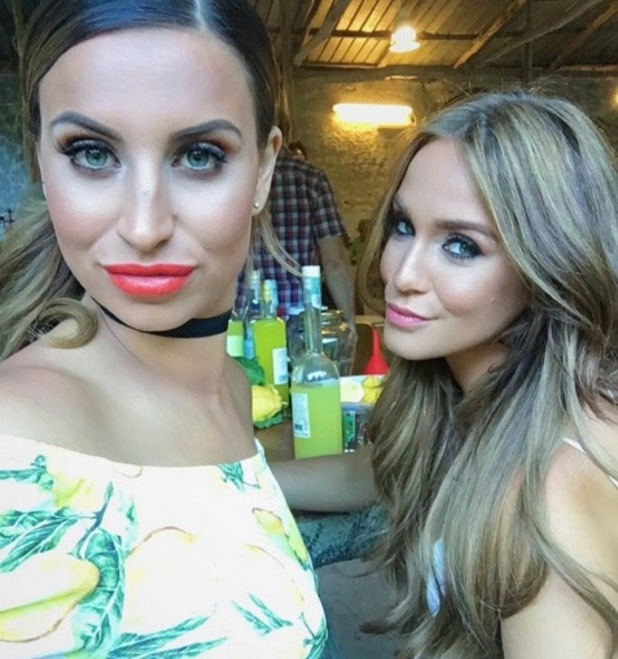 Ferne McCann and Vicky Pattison filming in Italy July 2016