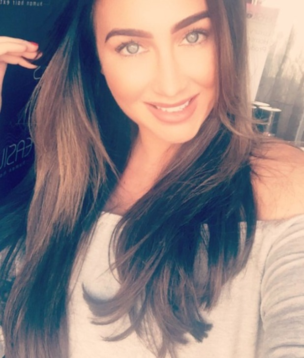 Lauren Goodger gets new Easilocks hair extensions at Gloss in Buckhurst Hill Essex, 22 July 2016
