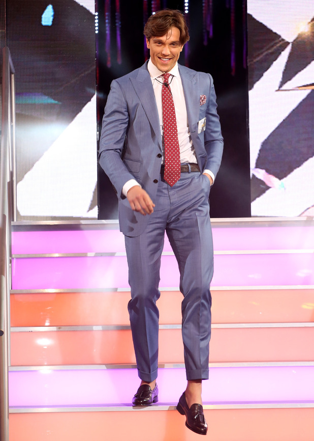 Lewis Bloor enters the Celebrity Big Brother house 28 July