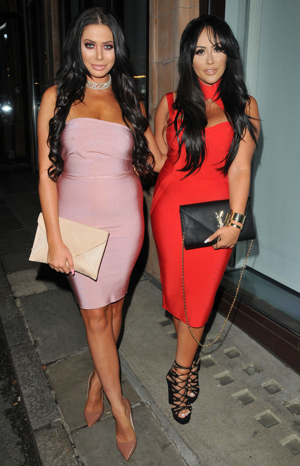Geordie Shore's Sophie Kasaei and Chloe Ferry attend the Mark Hill hair Pick 'N' Mix launch party in London, 27th July 2016