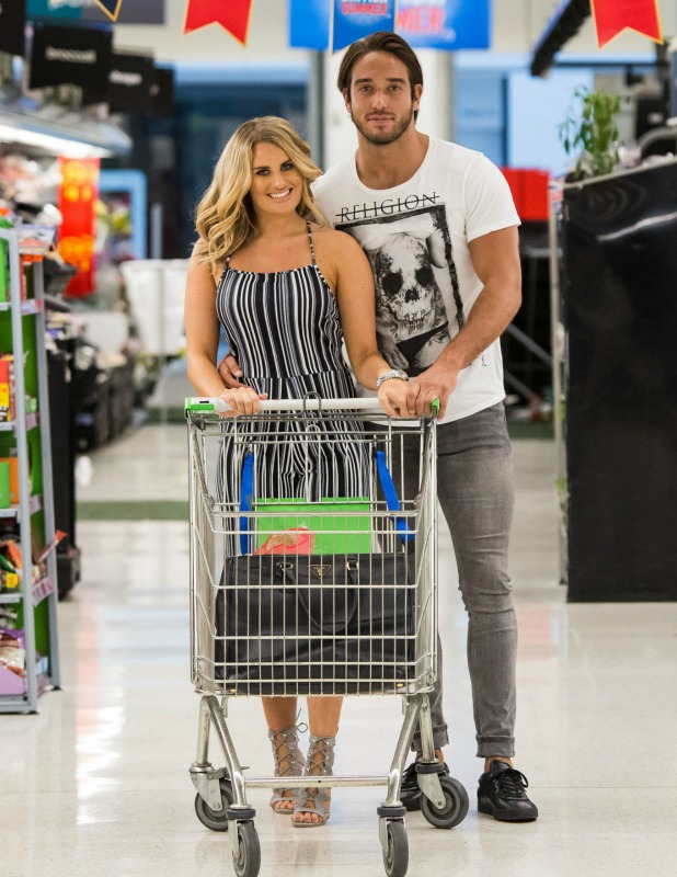 TOWIE TV series filming, Romford, UK - 22 Jul 2016 Danielle Armstrong, James Lock