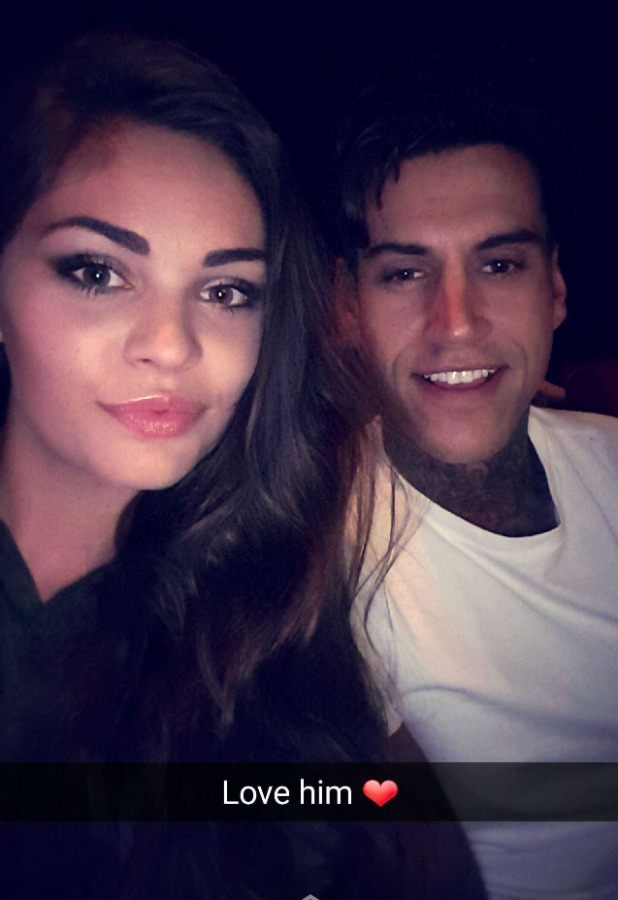 Love Island's Emma-Jane Woodhams and Terry Walsh at the cinema 26 July 2016