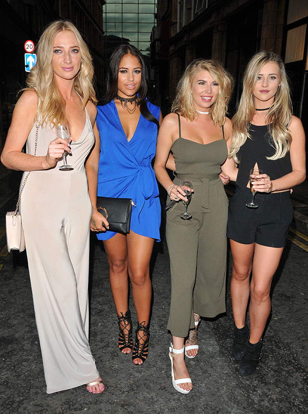 Lauren Whiteside, Malin Andersson, Olivia Buckland and Tina Stinnes Mark Hill party, London, 27 July 2016