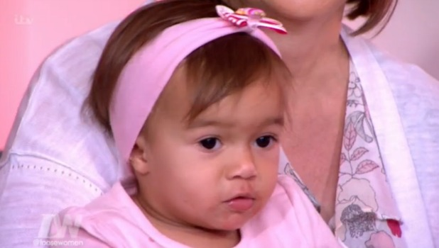 Helen Flanagan's daughter Matilda on Loose Women 27 July 2016
