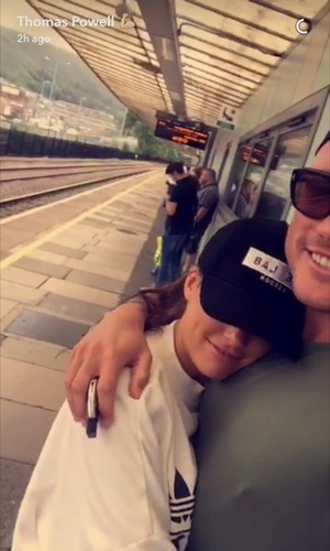 Sophie Gradon and Tom Powell say goodbye for a week 3 August