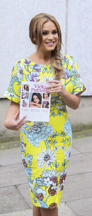 Former Geordie Shore star Vicky Pattison outside the ITV Studios in London, 3rd August 2016