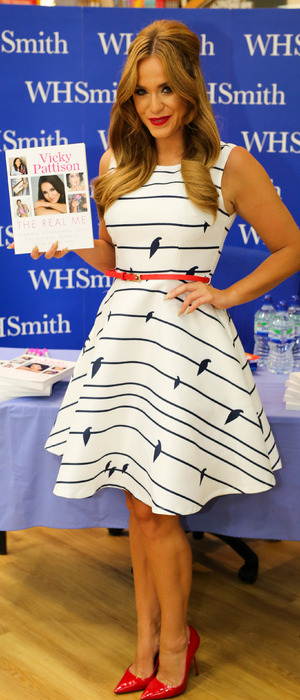Former Geordie Shore star Vicky Pattison promotes her new book, The Real Me, in Newcastle, 2nDS