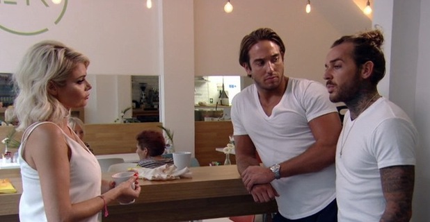 TOWIE: Pete Wicks talks to Chloe Sims and James Lock about Mike Hassini fallout, 31 July