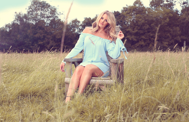 TOWIE star Dannielle Armstrong announces style collaboration with Miiaan, blue Bardot dress, £20, ins August