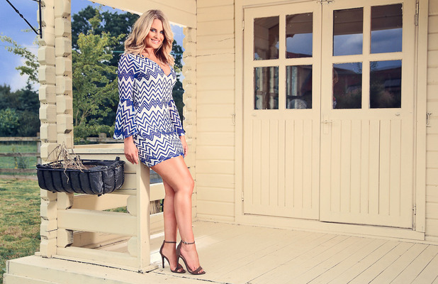 TOWIE star Danielle Armstrong launches clothing collection with Miiaan, zig-zag blue dress, £28, 1st August 2016