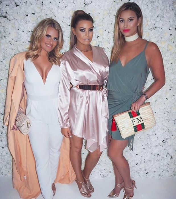 Ferne McCann, Danielle Armstrong and Jess Wright attend Jess' shoe launch on 1 June 2016