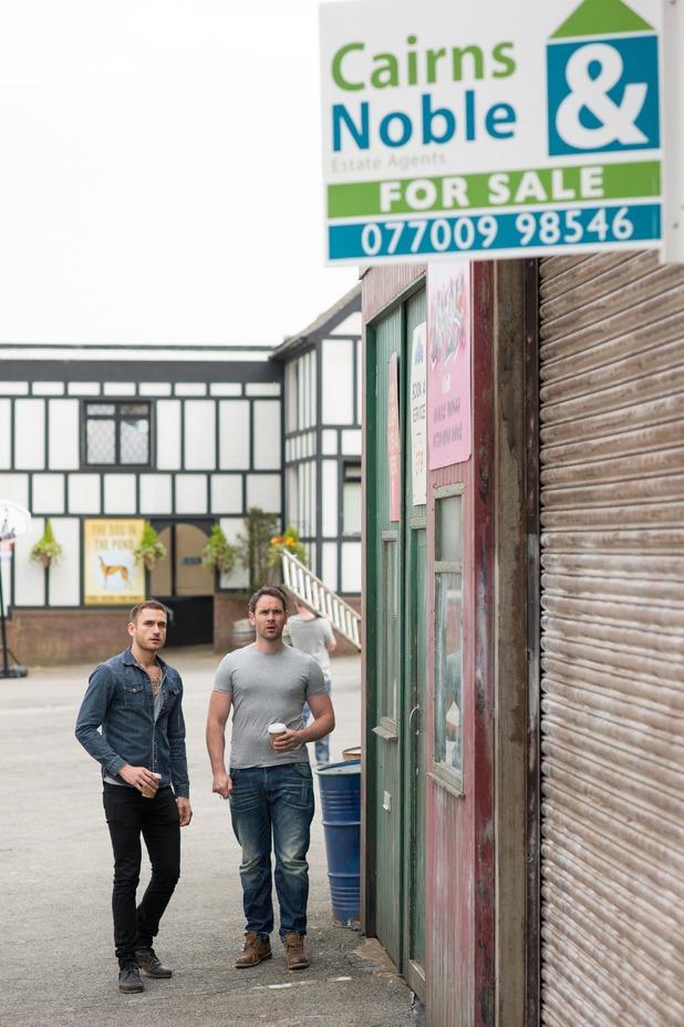 Hollyoaks, Joe and Freddie find the garage for sale, Fri 5 Aug