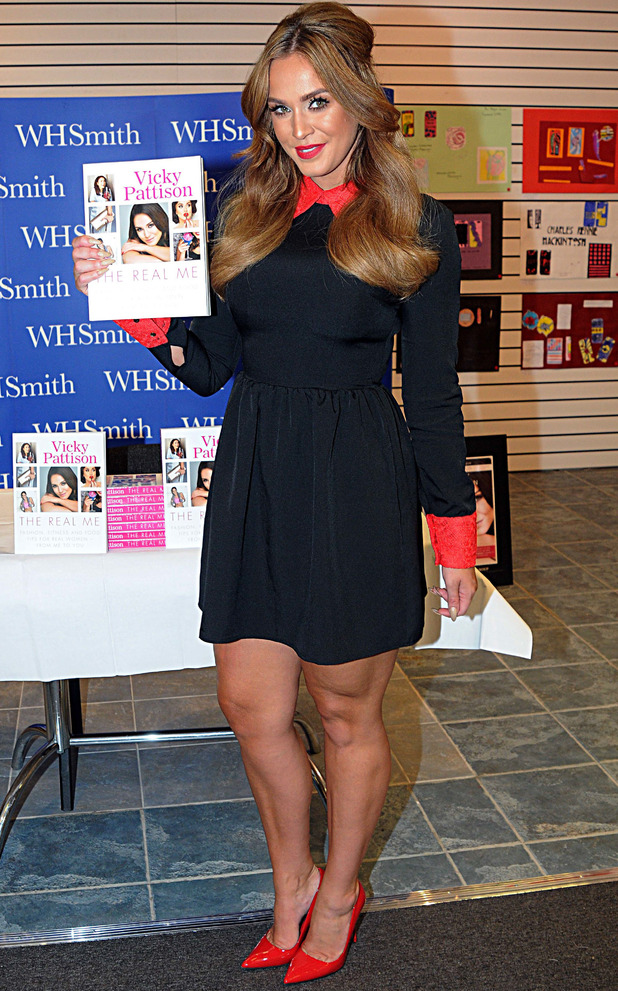 Vicky Pattison signs copies of her new book, The Real Me in Glasgow, Scotland, 1 August 2016
