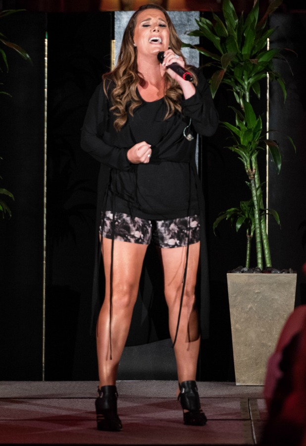 Sam Bailey performs during her album launch at The Dorchester on August 4, 2016 in London, England.