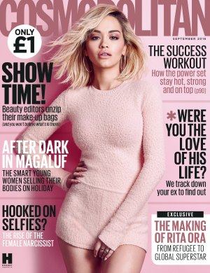 Rita Ora interview appears in the September 2016 issue of Cosmopolitan, on sale 3rd August