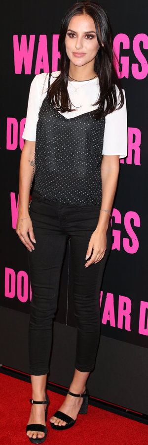 Lucy Watson at War Dogs premiere