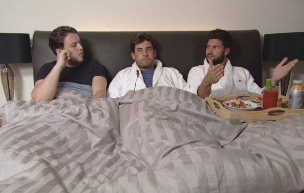 TOWIE: Dan Edgar talks to boys about Kate Wright 10 August 2016