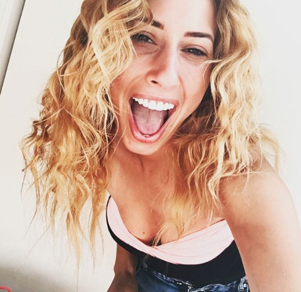 Stacey Solomon shows off her natural, curly hair on Instagram, 9th Auust 2016