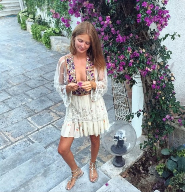 Millie Mackintosh poses on vacay in France