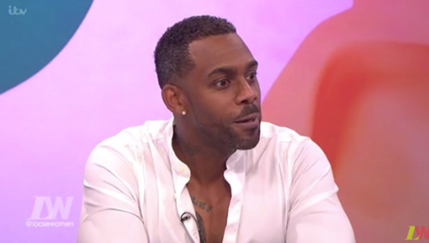 Richard Blackwood on Loose Women 12 August 2016