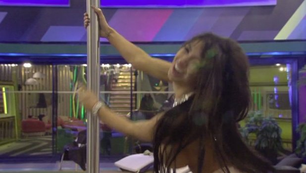 CBB Episode 11: Chloe Khan pole dances topless while Bear, Lewis and Marnie cheer her on 10 August 2016