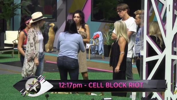 CBB: Renee and Chloe argue 11 August 2016