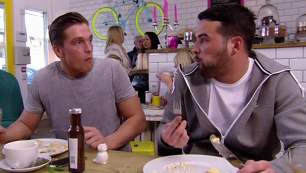 TOWIE: Lewis and Ricky have breakfast together 2015