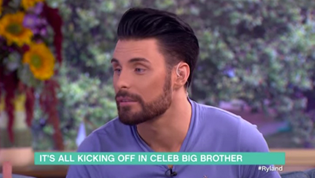 Rylan tells This Morning there's been a huge row in the CBB house over a balloon task