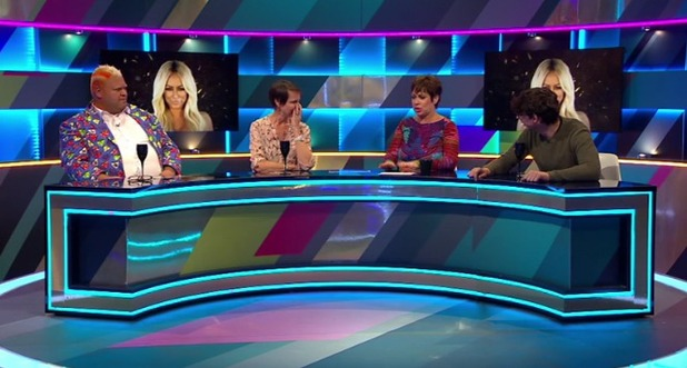 Heavy D on the Big Brother's BOTS panel with Denise Welch, Carol McGiffen and Matt Richardson 16 August 2016