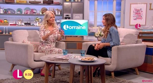 Frankie Bridge appears on Lorraine - 17 August 2016