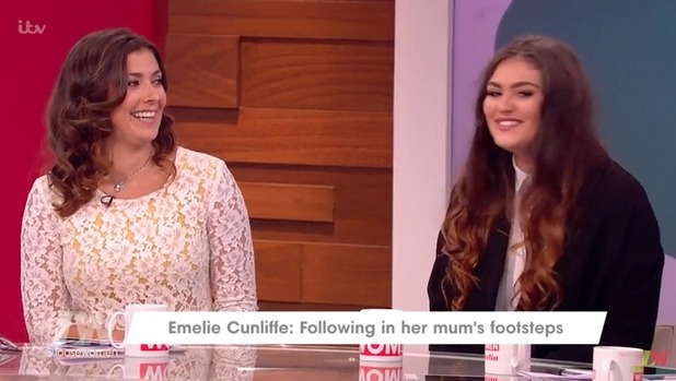 Kym Marsh and daughter Emilie Cunliffe appear on Loose Women - 15 August 2016
