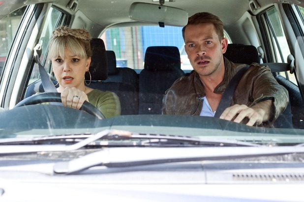 Hollyoaks, Nancy and Darren in a car crash, Wed 17 Aug