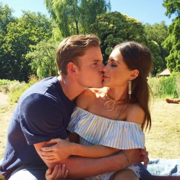 Louise Thompson puckers up with PT boyfriend Ryan Libbey