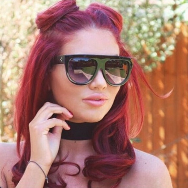 Amy Childs rocks 'space buns' while posing in her range of sunnies for foreverontrend.co.uk, 16 August 2016
