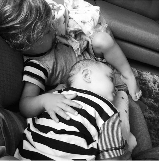 Frankie Bridge's photos of sons Parker and Carter