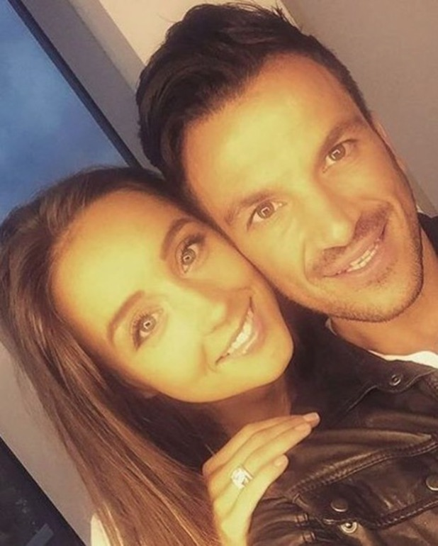 Peter Andre and Emily MacDonagh pictured in a selfie on her birthday - 16 August 2016