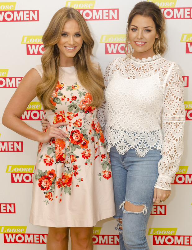Jessica Wright and Vicky Pattison appear on ITV's Loose Women, London, 20th July 2016