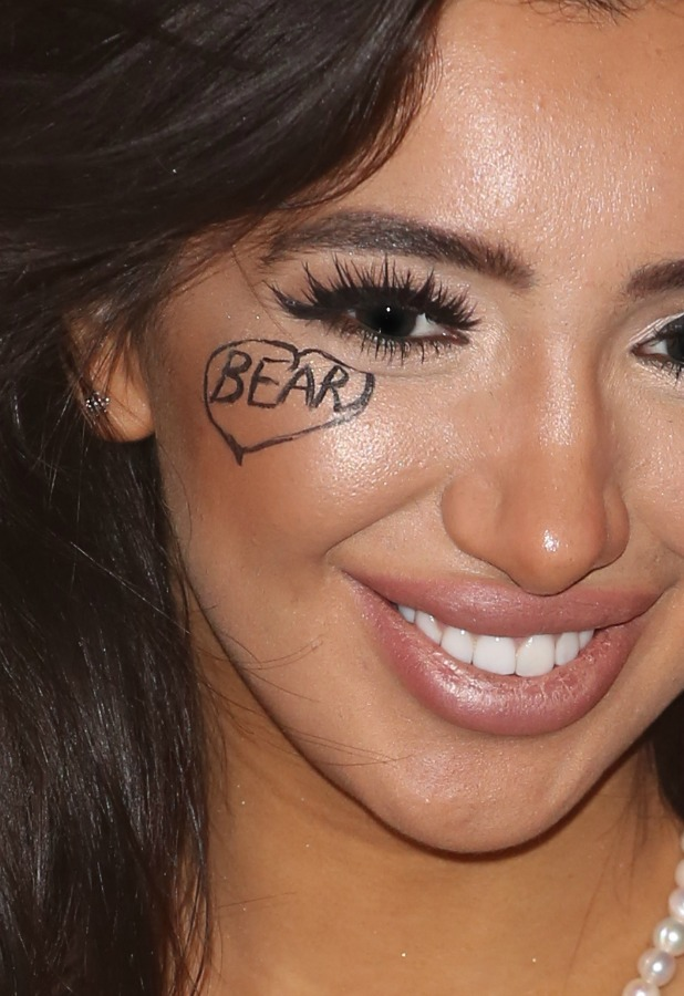 Celebrity Big Brother eviction: Chloe has Bear's name written on her cheek 16 August 2016
