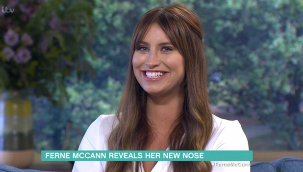 Ferne McCann shows off nose job result on This Morning 15 August 2016