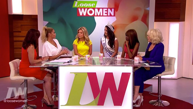Zara Holland and Deone Robertson on Loose Women 18 August 2016
