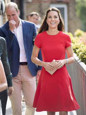 Kate, Duchess of Cambridge arrives to visit a helpline service run by one of the eight charity partners of Heads Together, August 25, 2016 in London, England