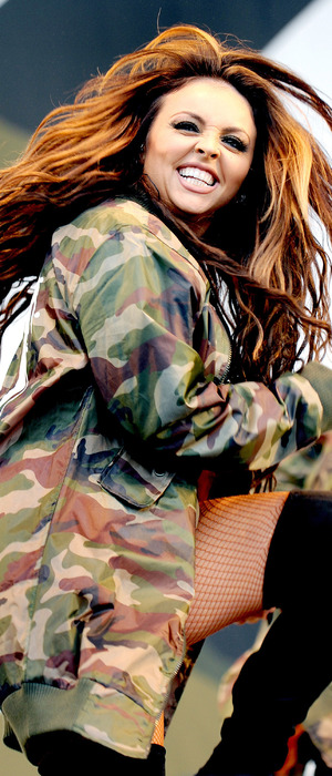 Little Mix star Jesy Nelson shows off her new caramel-copper-coloured hair at V Festival, Chelmsford, Essex 20 August 2016