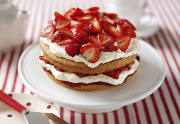 Strawberry Cream Cake - picture to accompany recipe.