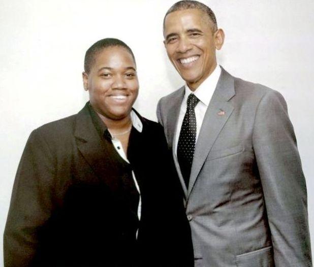 Angeline Jackson met President Obama