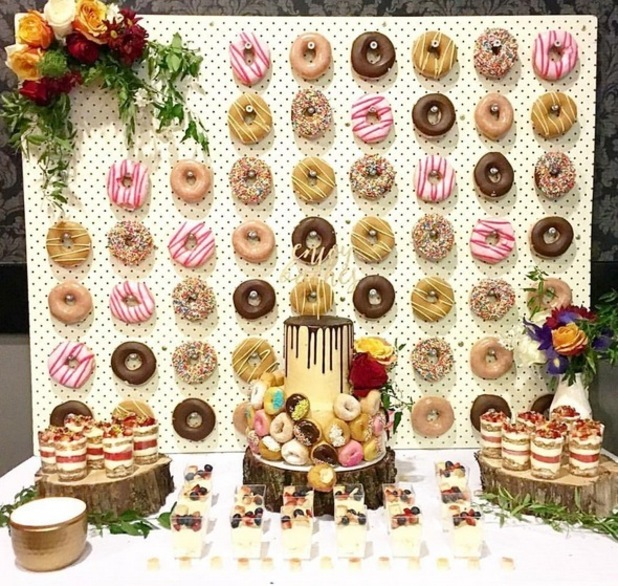 Doughnut walls have got to be the most delicious new wedding trend
