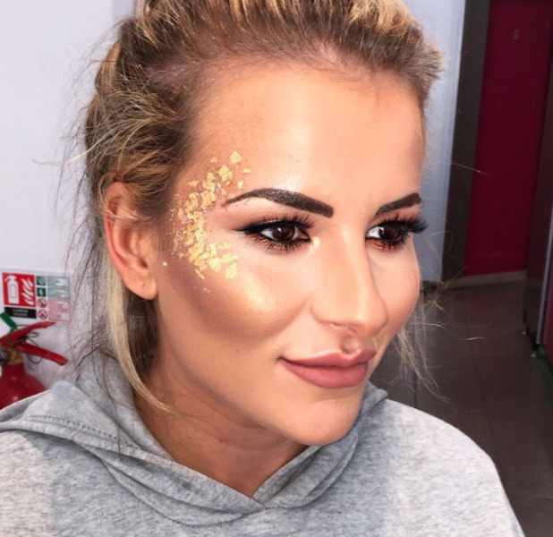 TOWIE's Georgia Kousoulou shares a picture of her V Festival make-up, 21 August 2016
