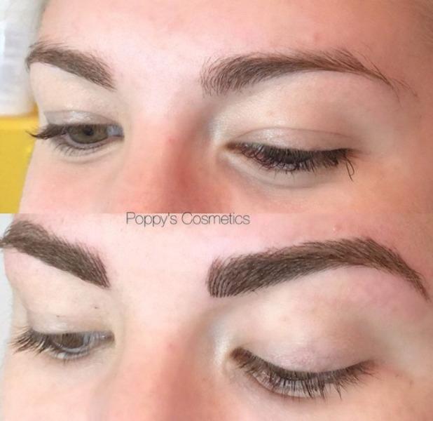 Love Island star Olivia Buckland gets her eyebrows tattooed, Instagram, 23 August 2016