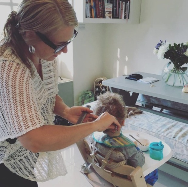 Kimberley Walsh's son Bobby gets his first haircut - 23 August 2016